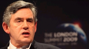 Gordon Brown at G20, London 2009