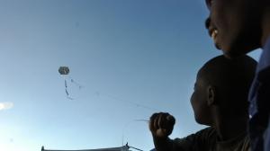 Living in a Haitian camp