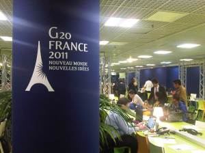 G20 logo in Cannes