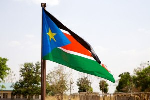 The flag of South Sudan
