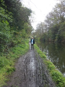 Jim Quinn walking along the canal
