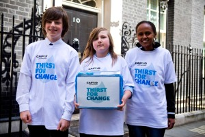 Lemlem Berhe Tsegay taking Thirst for change actions to Downing Street