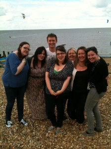 Youth leaders in Whitstable with Tanya Jenkins (second from right)