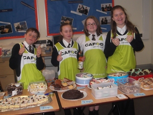 Loreto High Salford cake sale for CAFOD World Gifts