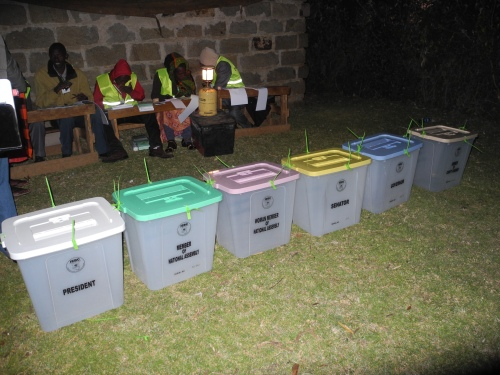 Polling clerks at the Kenya elections