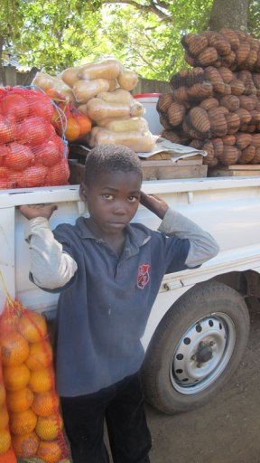 Boy-next-to-van-with-fruit-