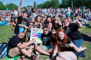 CAFOD supporters from Sheffield at Big IF, credit: Wilde Fry