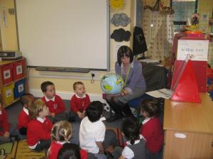 A classroom workshop.