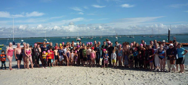 Simone's family and friends came together for a swim (followed by eclairs) in her memory.