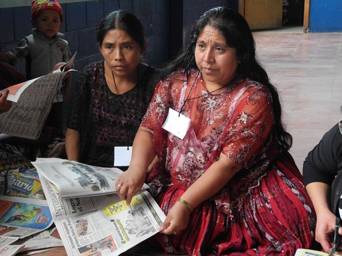 A session on rights in Guatemala helps give marginalised communities a voice to speak out