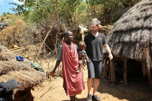 Ben Price with Paska in Uganda