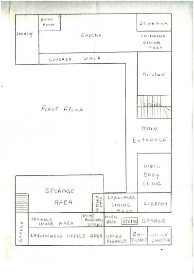 The ground floor plan of the new hospital, Dominica - CAFOD