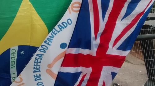 The flags - Brazil, England and MDF