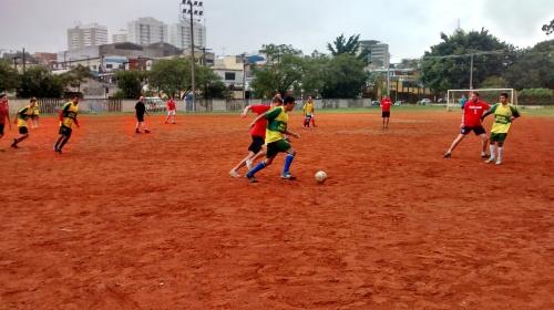 The match in full swing - Vila Prudente, Brazil