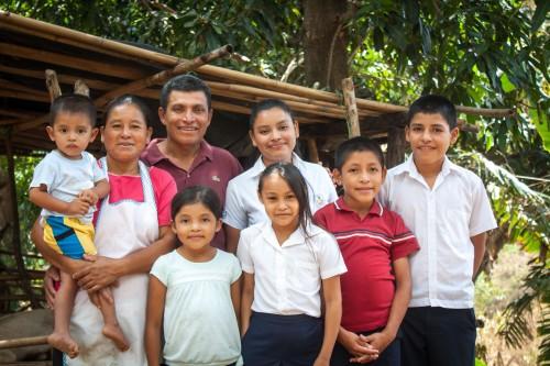 Jacqueline with her family - Puentecitos, El Salvador - CAFOD