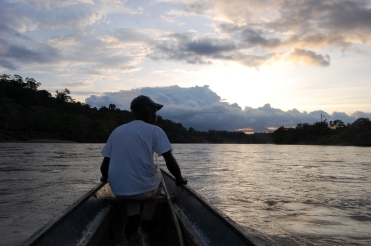 Man in boat, Colombia