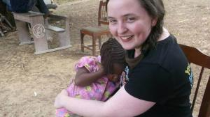 Julia Corcoran on a recent trip to Sierra Leone with CAFOD