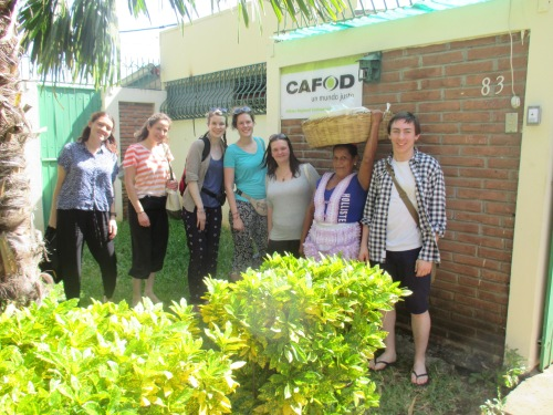 The Nicaragua Step into the Gap team outside CAFOD office