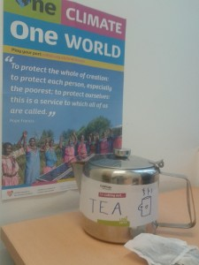 Cutting out tea for Lent with CAFOD