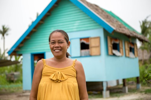Flora, Philippines, disaster-resistant home, CAFOD