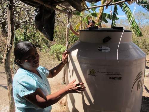Water tanks in Nicaragua funded by CAFOD