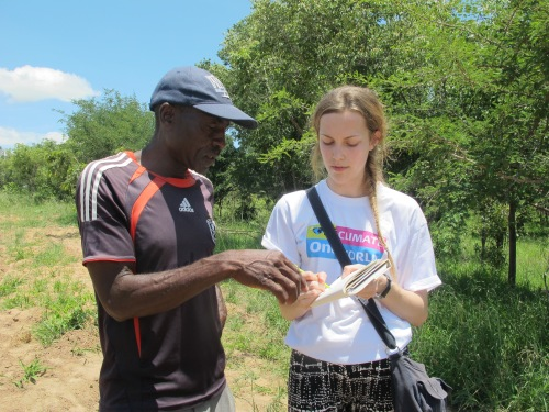 Mary with Mpofu, a farmer in Zimbabwe