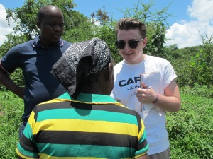 Kieron meeting communities in Zimbabwe