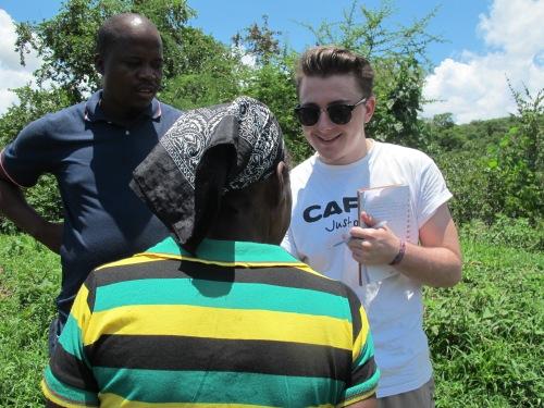 Kieron meeting communities in Zimbabwe