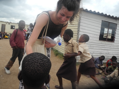 Lizzie at Terriro school