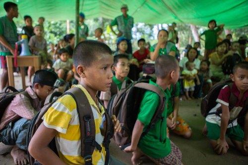 Martin - emergency drill - Myanmar - DRR CAFOD (2)