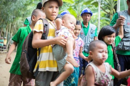 Martin - emergency drill - Myanmar - DRR CAFOD (3)