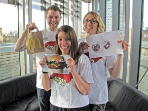 Phil, Sally and Megan - meat-free Lent