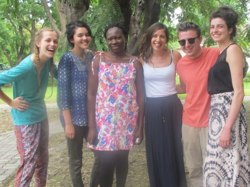 CAFOD's gap year volunteers saw the work our partner Mashambanzou does for those living with HIV and AIDS