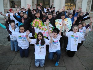 The young climate bloggers launch the One Climate, One World campaign for children and young people at Brentwood Cathedral.