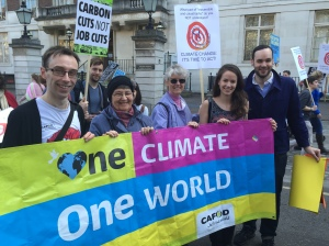 CAFOD's Sarah Croft joins climate march