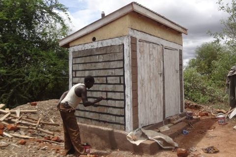 Work has begun on building safe, hygienic latrines.