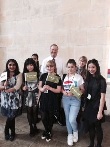 Students from Wolverhampton with their MP