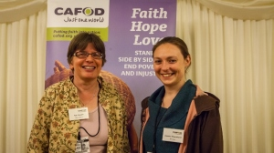 Sue Cooper at a CAFOD supporter event in Parliament