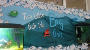 A Big Fish school Lent display.