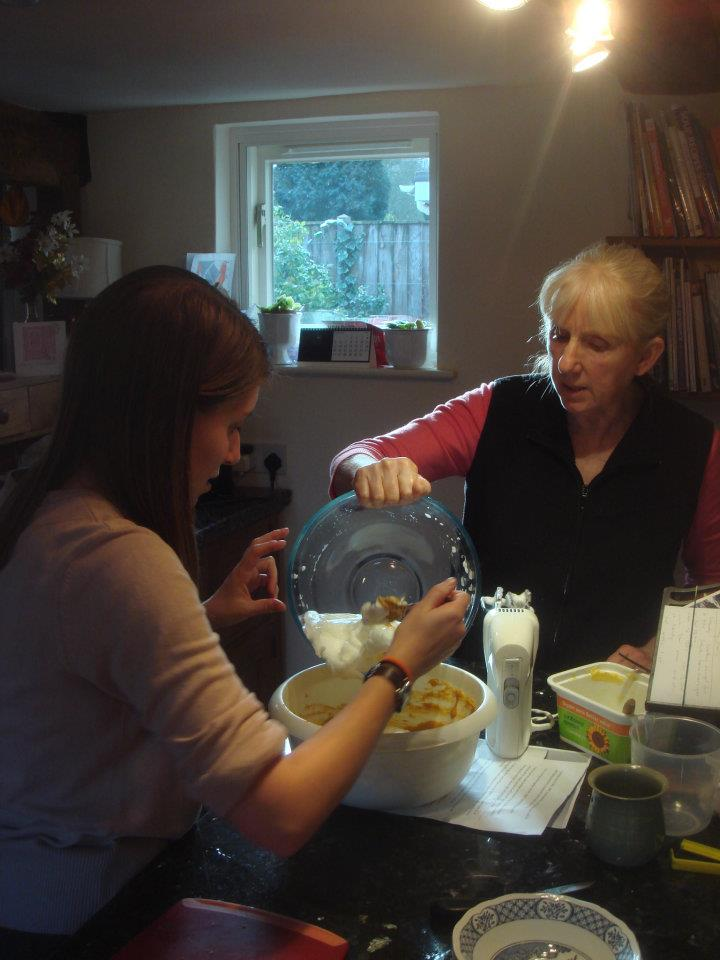 Sally and Jan cooking